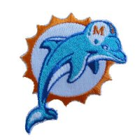 Miami Dolphins Logo Patches