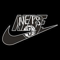 Brooklyn Nets nike logo iron on sticker