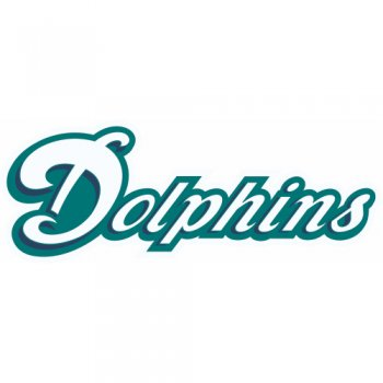 Miami Dolphins Script Logo  Iron-on Stickers (Heat Transfers) version 3