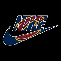 Cleveland Cavaliers nike logo iron on sticker