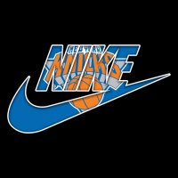 New York Knicks nike logo iron on sticker
