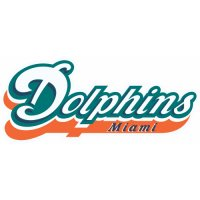 Miami Dolphins Script Logo  Iron-on Stickers (Heat Transfers) version 2