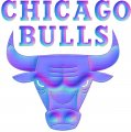 chicago bulls 1967-pres primary colorful embossed logo iron on transfer