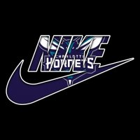 Charlotte Hornets nike logo iron on sticker
