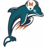 Miami Dolphins Alternate Logo  Iron-on Stickers (Heat Transfers) version 2