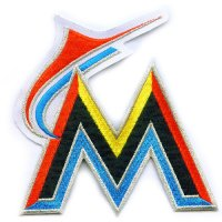 Miami Marlins Primary Logo Embroidered Iron On Patches