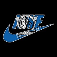 Dallas Mavericks nike logo iron on sticker