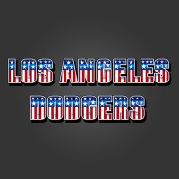Los Angeles Dodgers American Captain Logo iron on transfer