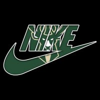 Milwaukee Bucks nike logo iron on sticker