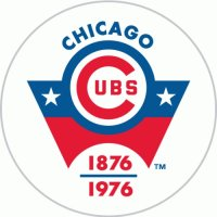 Chicago Cubs Anniversary Logo  Decals Stickers