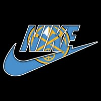 Denver Nuggets nike logo iron on sticker
