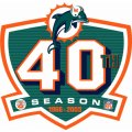 Miami Dolphins Anniversary Logo  Iron-on Stickers (Heat Transfers)