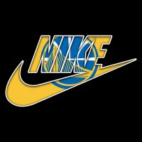 Golden State Warriors nike logo iron on sticker