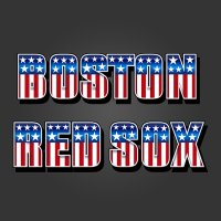 Boston Red Sox American Captain Logo iron on transfer