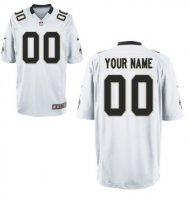 New Orleans Saints Custom Letter and Number Kits For New White Jersey