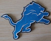 Detroit Lions Logo Embroidered Iron On Patch