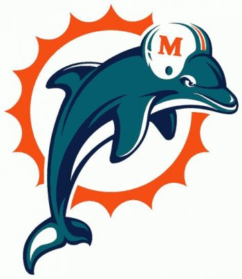 Miami Dolphins Primary Logo  Iron-on Stickers (Heat Transfers)