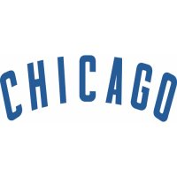 Chicago Cubs Script Logo  Decals Stickers